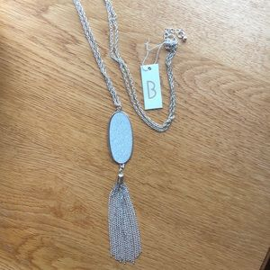 NWT Necklace. Long w/ sparkly pendant.